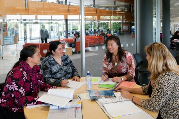 staff and community discussion at School of Population Health, Tamaki